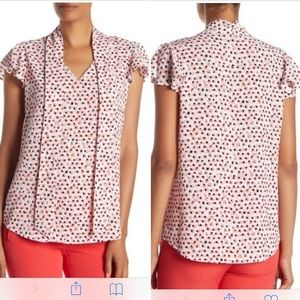 Adrianna Papell Tie Neck Blouse